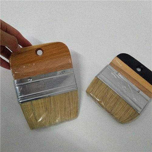 100mm Flat chalk wax paint Bristle  brush Wooden Handle Chalk Oil Paint Painting Wax Brush Artist Art Supplies