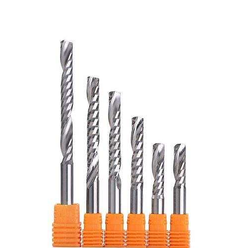 5pcs Shank 4mm 5mm 6mm 1/4  High Quality Carbide CNC Router Bits One Single Flute End Mill Tools Milling Cutter CEL 17-62mm