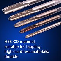 1pc HSS Co Machine Sprial Point Tap Precision H2 Screw Thread Metric Plug Tap M3 to M8 Right Hand Tap Drill Stainless Steel Iron