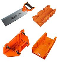 12/14  Adjustable Wood Miter Box Saw Cutting Grip Back Saw 0/22.5/45/90 Degrees