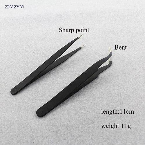 1PC Multifunction anti-static Straight or Elbow tweezers Stainless Steel Tweezers for Watch Repairing Tools and Dental Tool