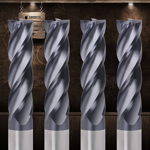 Tungsten Steel Milling Cutter HRC50 4 Flute Alloy Carbide End Mill Cnc Tools 2mm 3mm 4mm 5mm 6mm Metal Cutter Wood Endmill