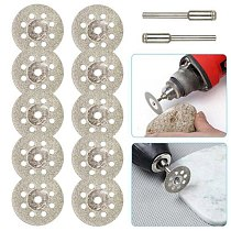 10PCS Diamond Cutting Wheel Saw Blades Cut Off Discs Set Rotary Tool Replacement used to Grind Stone Glass ceramic