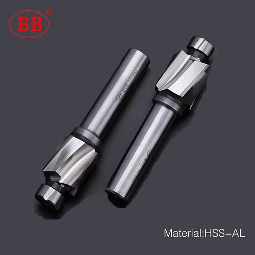 BB Counterbore End Milling Tool HSS M3-M16 for Flat Bolt Holes Screw Caps Ejector Cap Countersink