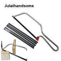 Julaihandsome Junior Jacksaw Frame With 6 Blades Hand Saw for DIY Home and Gardon Hand Tools