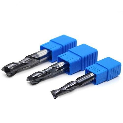 ZGT Endmill Cnc Tools Cutting HRC50 2 Flute Metal Cutter Alloy Carbide Tungsten Steel Milling Cutter End Mill 1mm 2mm 3mm 4mm