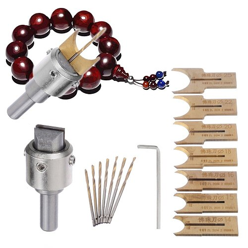 16pcs Carbide Ball Blade Woodworking Milling Cutter Molding Tool Beads Router Bit Set 14-25mm