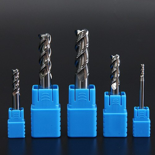 Wood Cutter Aluminum Endmill HRC50 3 Flute Milling Tools For Aluminum Copper CNC Milling Cutter End Mill 6mm 8mm