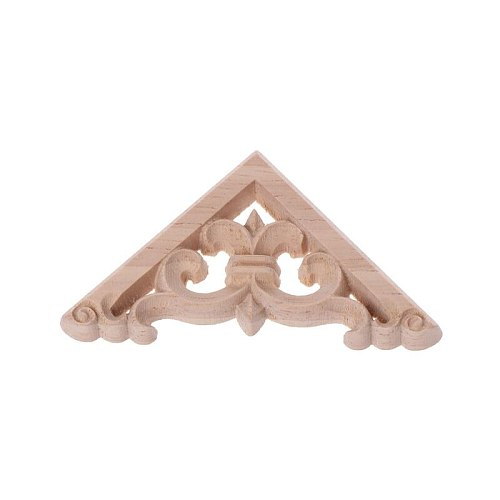 4pcs/set Wood Carved Corner Onlay Applique Unpainted Frame  Cupboard Cabinet Decal For Home Furniture Decor 6x6cm