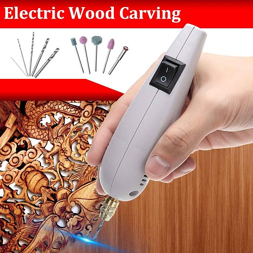Woodworking Electric Furniture Carpentry Root Carving Knife Tool Handle Flexible Shaft Chisel Carved Wood Carving Hand Tools