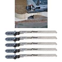 OOTDTY 5 Pcs T101AO HCS T-Shank Jigsaw Blades Curve Cutting Tool Kits For Wood Plastic