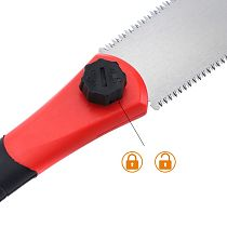 Woodworking Double Sides SK5 Steel Hand Saw Tenon Fine Tooth TPR Handle Garden C63B