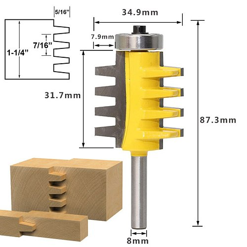 8mm Wood Seams Splicing Wood Sanding Cutter Head Woodworking Tools Planing Knife Electric Wood Milling Cutter