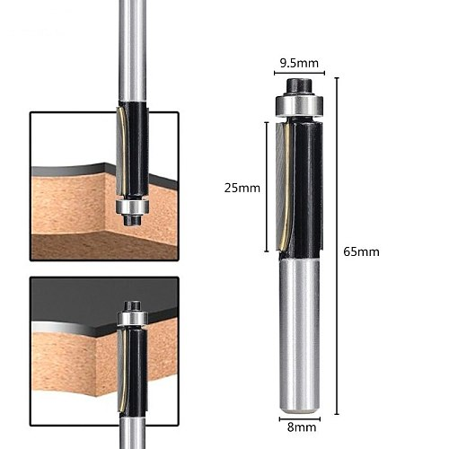 2 Flush Trim Router Bit Wood Cutter 8mm Shank With Bearing For Wood Template Pattern Carbide End Mill Woodworking Milling Cutter