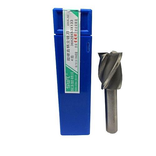 Four 4 Flute HSS End Mill Cutter CNC Bit Milling Cutter 23 24 25 26 27 28 29 30 32 33 34 35 36 38 40 45 50