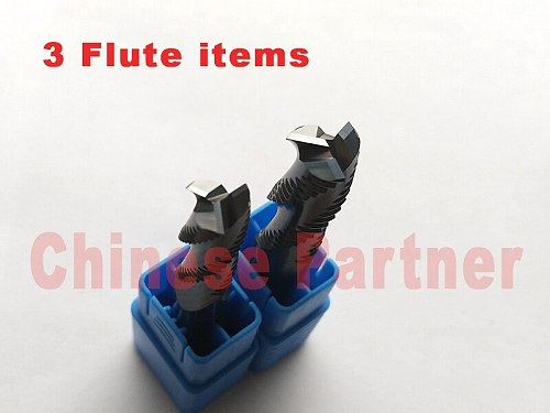 4mm-12mm length 50-100mm 3 Flutes solid carbide Roughing end mill  Spiral Bit Milling Tools CNC Endmills Router bits