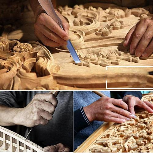 12pcs Professional Manual Wood Carving Hand Chisel Tool Set Woodworking Carpenter Carving Chisel Knife DIY Hand Tools