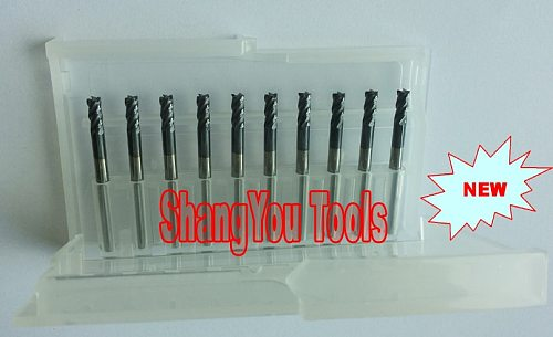 10pcs 3mm 4mm 4 Flutes Tungsten Square End Mills Spiral Bits Carbide CNC Endmill Router Bits