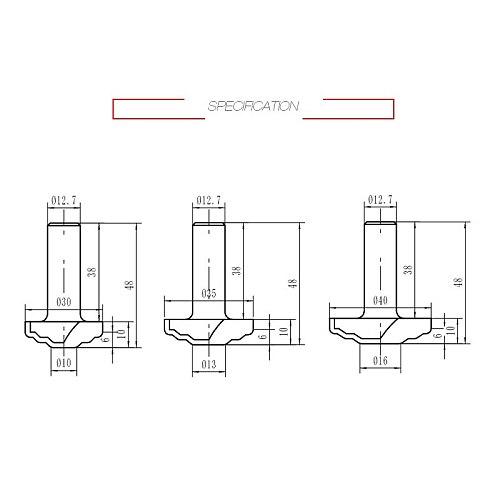 1/4  Shank Industrial Grade Woodworking Cabinet Door Cutters CNC Bit  Door Pattern Carving  Milling Cutter For Wood
