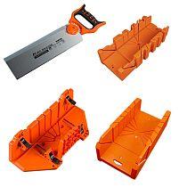 12/14\  Adjustable Wood Miter Box Saw Cutting Grip Back Saw 0/22.5/45/90 Degrees