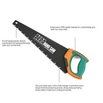 AIRAJ 18/20 Inch Long Multi-Function Hand Saw Woodworking Tools Fast Cutting Wood Plastic Tube Home Gardening Hand Tool