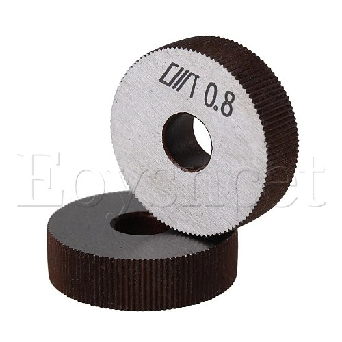 2x Steel Single Straight Coarse 0.8mm Pitch Linear Knurling Wheel 28mm OD