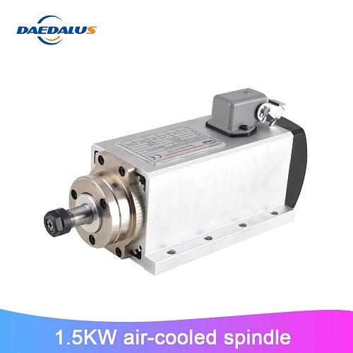 CNC Spindle 1.5KW 220V Air Cooled Spindle ER11 Milling Motor Square Machine Tool Spindle For Engraver Machine
