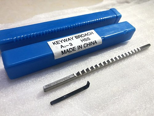 3mm A Push-Type Keyway Broach Metric Sized High Speed Steel for CNC Cutting Machine Tool