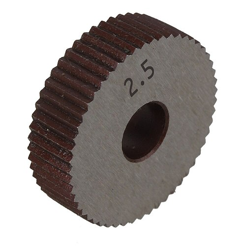 2Pcs Gear Hob Straight grain 2.5mm Wheel knurl HSS Wheel Knife Knurled Lathe Embossing Wheel Machine Tools Accessories