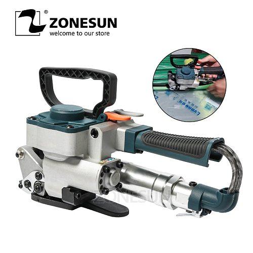 ZONESUN Pneumatic Friction Welding Baler Strapping Machine Air PET Banding Machine Tool For 13-19mm Width PET Straps