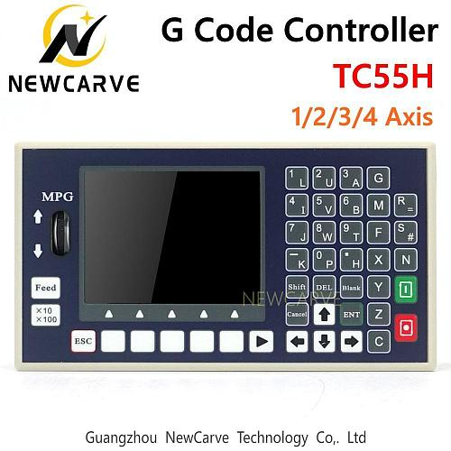 G Code Controller TC55H USB Stick 1 2 3 4 Axis Spindle Control Panel MPG Stand Alone For CNC Milling Machine Controller NEWCARVE
