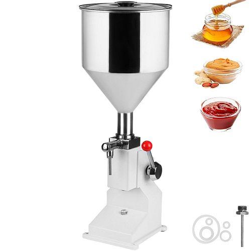 VEVOR 5-50ML Manual Liquid Filling Machine A03 Hand Press Filler for Paste Cream Cosmetic Water Oil Bottle Filler