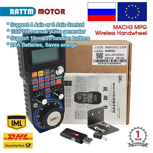EU / US Delivery! 40 Meters Wireless Mach3 MPG Pendant mpg lathe Handwheel for CNC Mac.3, 4 axis Wholesale Price (HandWheel-04)