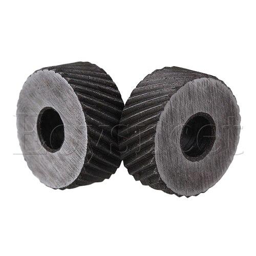 2PCS 19 x 8mm Knurl Wheel Tool Diagonal Coarse Twill Pattern 1.5mm Pitch Roller