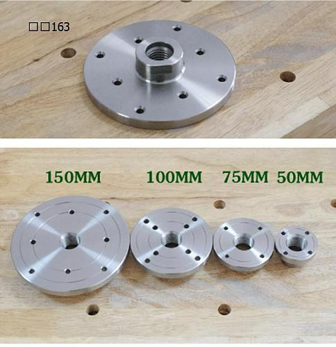 Woodworking Lathe Accessories Lathe And Wood Connection Tools Thread diameter 25.4MM  /1  8TPI Faceplate Flange For Wood lathe
