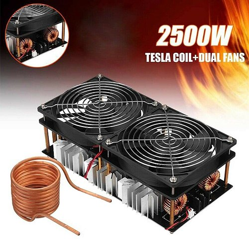 12-48V 2500W ZVS Low Voltage Durable Induction Heater Module Plate Flyback Driver Stable Woodworking PCB Board High Frequency