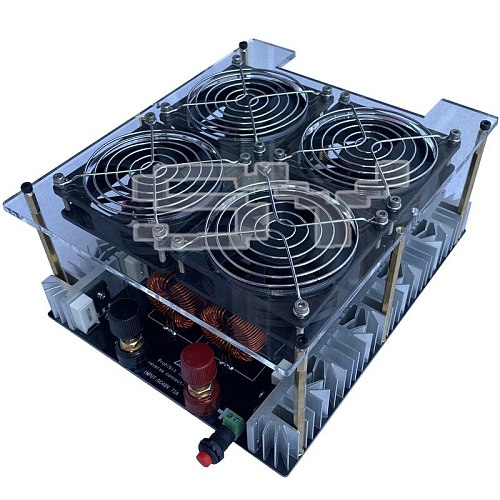 5KW/5000W ZVS Induction Heater Induction Heating PCB Board Heating Machine Melted Metal + Coil+Pump+ crucible+Dual power supply