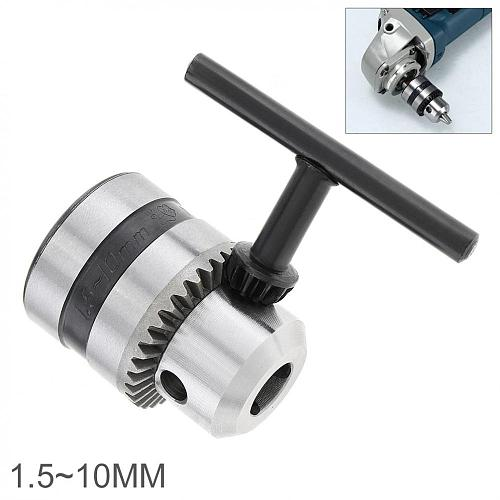 1.5-10mm Angle Grinder Hand Electric Drill Special Chuck Power Tool Accessories with Fine Rolling Tooth and Drill Bits