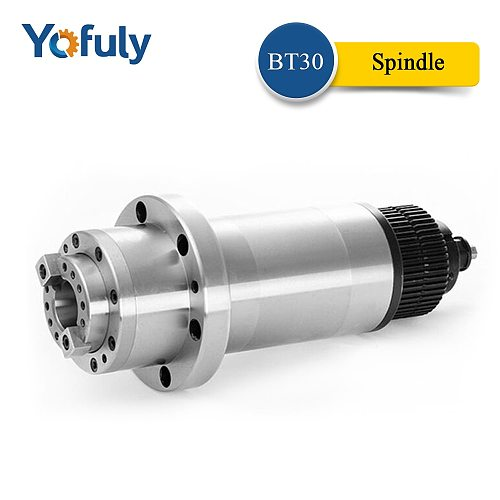ATC  Spindle BT30 Spindle CNC Router Milling Spindle Motor with Synchronous Belt for BT30  for BT30 Spring + Drawbar