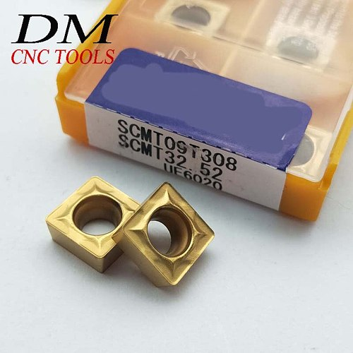 10pcs SCMT09T308 UE6020 SCMT32.52 cnc carbide insert lathe turning tool carbide inserts for SSKCR/SSSCR Turning Tool inserts of