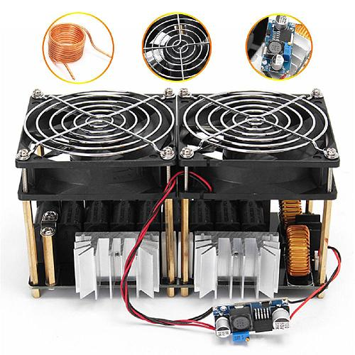 1800W/2500W ZVS Induction Heater Induction Heating Machine PCB Board Module Flyback Driver Heater Cooling Fan Interface+ Coil