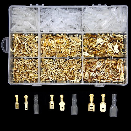 900/450/315Pcs/Set Insulated Electrical Wire Crimp Terminals 2.8/4.8/6.3mm Spade Connectors Assortment Kit with Box