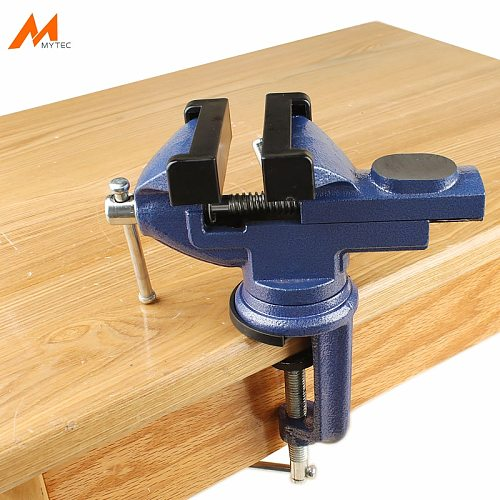 2.5  Small Swivel Base Clamp-on Bench Vise for Woodworking Repair Work