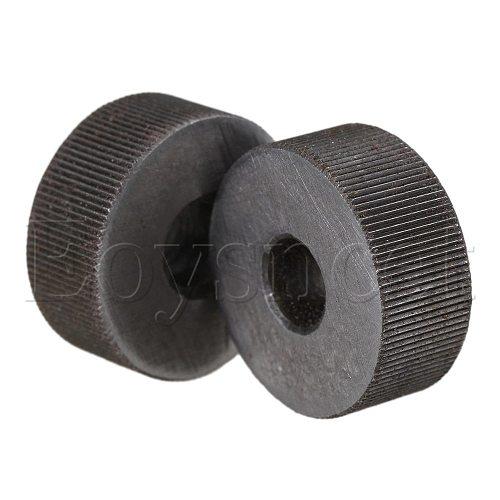 2 x Knurling Tool Silver Single Straight Wheel Linear Knurl 0.5mm Pitch