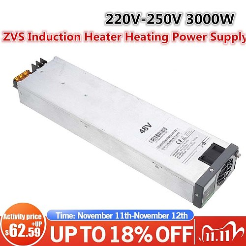 3000W 220V 62A ZVS Induction Heater Induction Heating Power Supply Switching Machine Power Supply