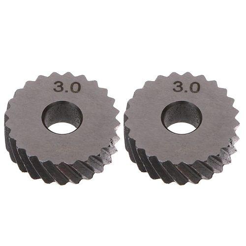 2pcs 3.0mm Diagonal Linear Knurl Wheels Knurling Knurler Tool 1.0/1.2/1.8/3.0mm Pitch