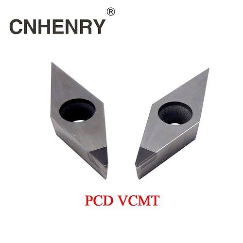 2 PCS PCD Machining Lathe Turning Inserts VCMT 160401/02/04/08/12 CNC PCD Diamond Inserts Carbide Lathe Cutter CNC Tools