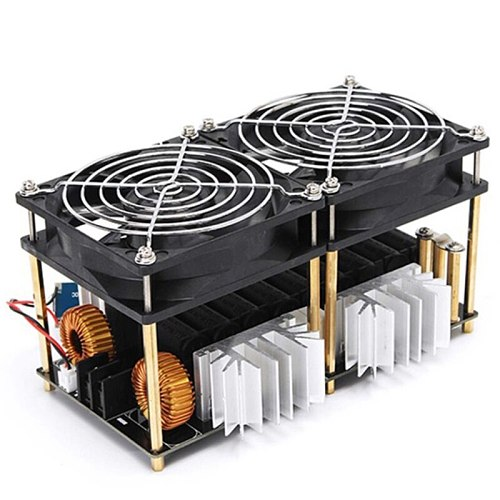2000W 50A ZVS Induction Heating Board Heater Module Flyback Driver Heater Dissipation Coil Dual Fan with Copper Tube