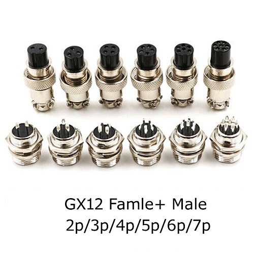 GX12 GX16 GX20 2/3/4/5/6/7/8/9/10/11/12/13/14/15P Pins Female Male Air Aviation Connectors Power Cables Electrical Plug Socket