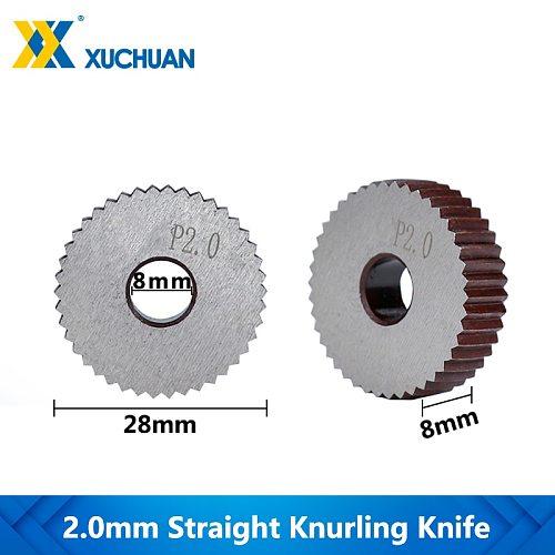 2.0mm Lathe Knurling Wheel Inner Hole Embossing Wheel  Knurling Wheel Gear Shaper Cutter Straight Knurling Knife